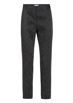 ALCHEMIST • Linen Mix Stripe Cigarette Pants • Office stripe black white