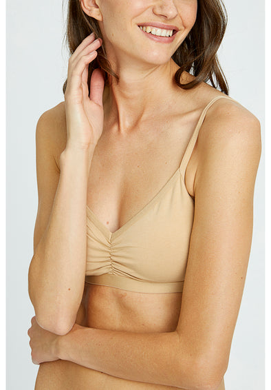 PEOPLE TREE Soft bra top • Almond