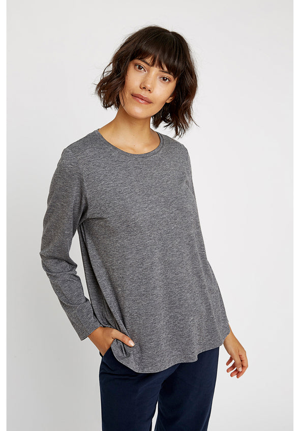 PEOPLE TREE  Amara Top • Grey Melange