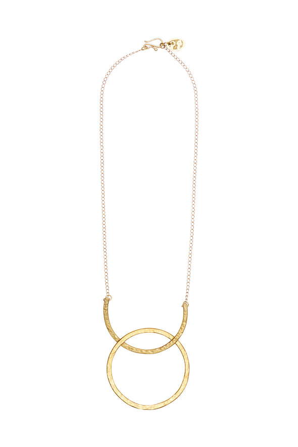 People Tree Arc and Hoop Necklace • Brass