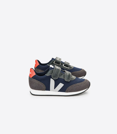 VEJA Junior Arcade • Small Velcro BMesh Nautico Orange Fluo