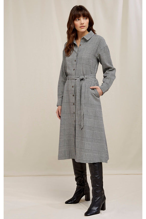 harvestclub-harvest-club-leuven-people-tree-asta-checked-shirt-dress-navy-multi