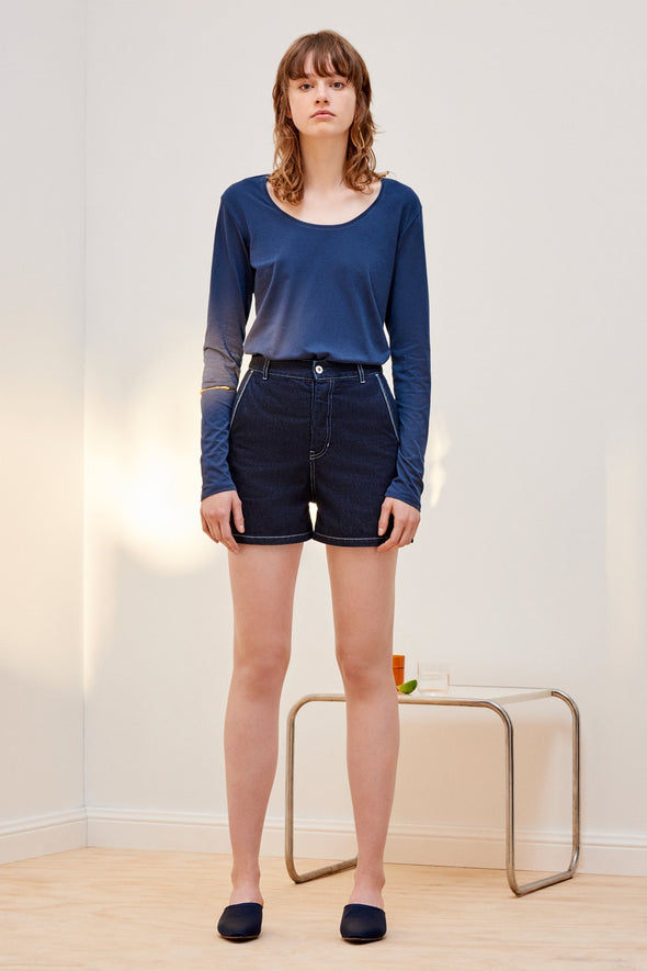 KOWTOW Building Block Long Sleeve Top • Navy Blue