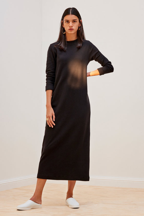KOWTOW Building Block Rib Long Sleeve Dress • Black