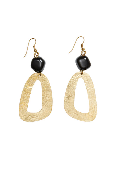 PEOPLE TREE Bead and shape earrings • Brass 452