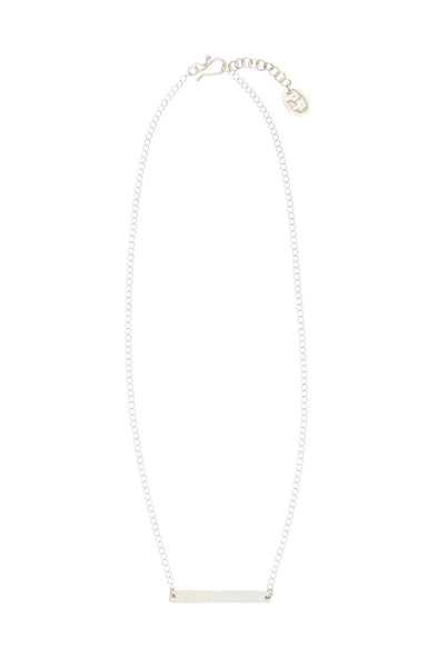 PEOPLE TREE Beaten bar necklace • Silver 468