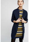 PEOPLE TREE Bethel Longline Cardigan • Navy