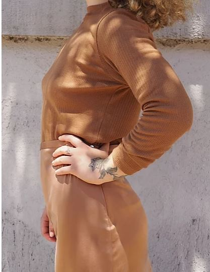 BY SIGNE Flora Loongsleeved Rib • Brown