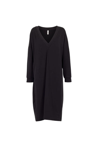 BY SIGNE V-neck Sweater Dress • Black