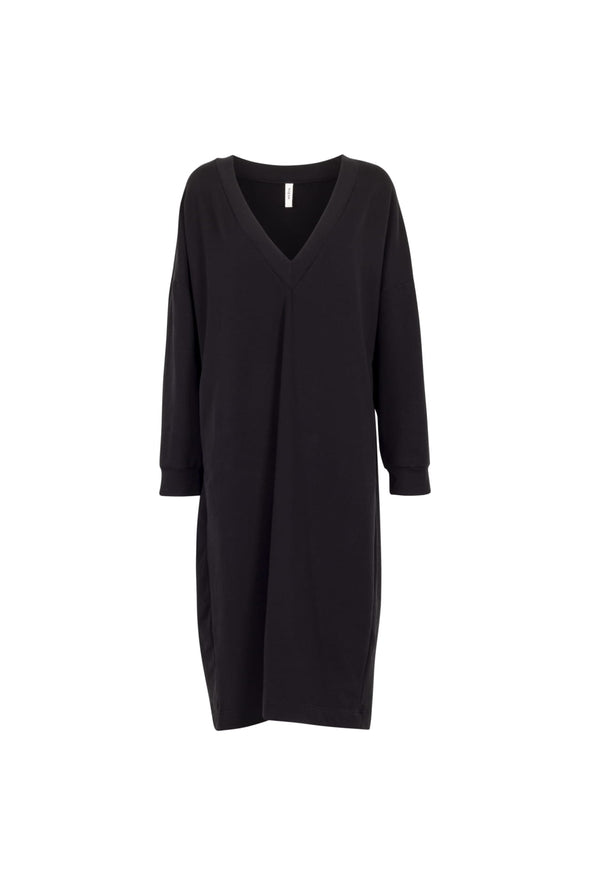 harvestclub-harvest-club-leuven-by-signe-v-neck-sweater-dress-black