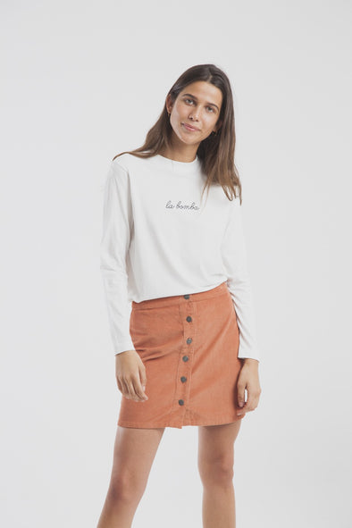 THINKING MU Corduroy Short Skirt • Sunburn