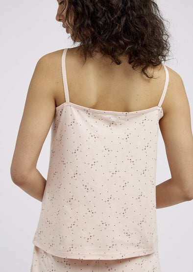 PEOPLE TREE  cat print camisole •pink