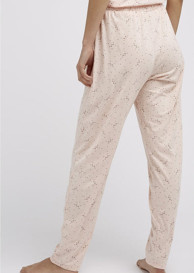 PEOPLE TREE  cat print trousers •pink