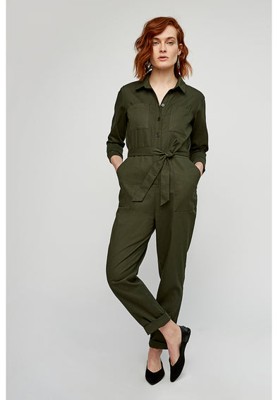 PEOPLE TREE  Cathy Jumpsuit • Khaki