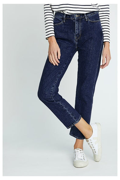 PEOPLE TREE Cecile Straight Leg Jeans • Blue