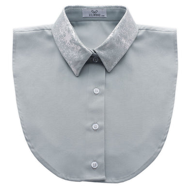 Lilirooz COLLAR NO. 10 (LIGHT-GREY – STRAIGHT – SILVER)