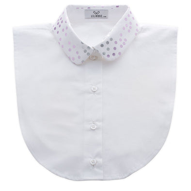 Lilirooz COLLAR NO. 07 (WHITE-ROUND-DOTS)