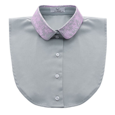 Lilirooz COLLAR NO. 09 (LIGHT-GREY – ROUND – PINK)