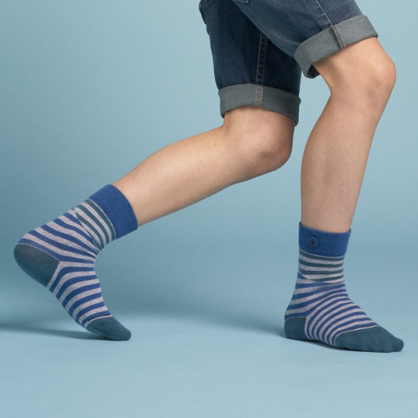 QNOOP Kids Cut Stripe • Sea Blue