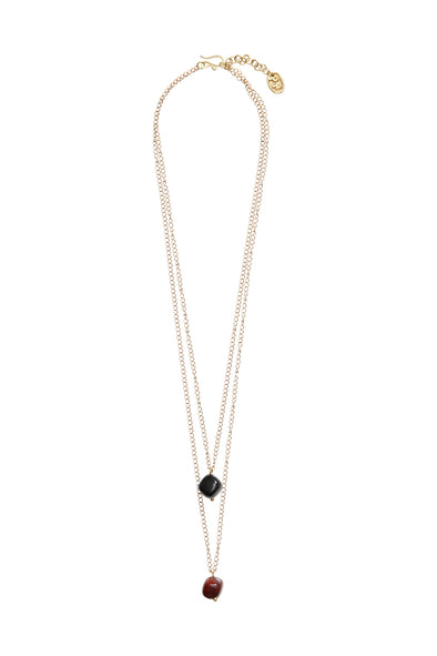PEOPLE TREE Double bead necklace • Brass 467