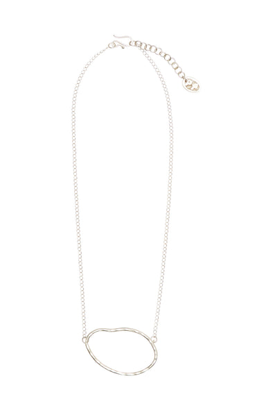 People Tree Ellipse Necklace • Silver