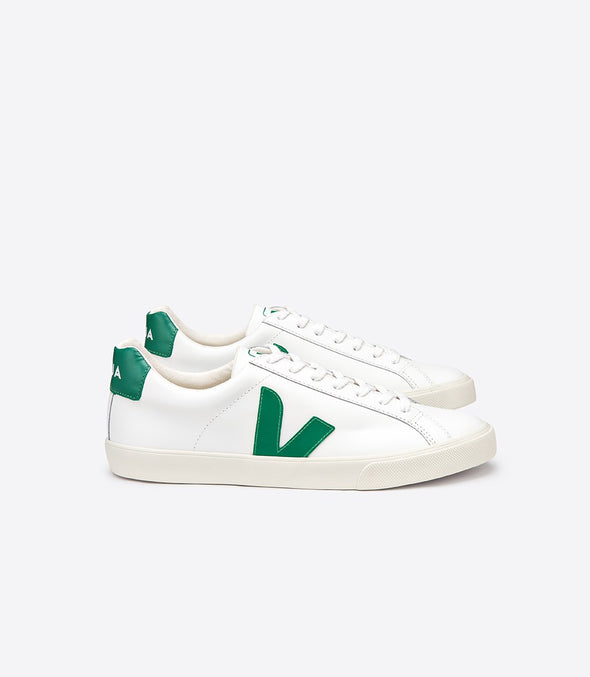 VEJA Esplar • Leather Extra White Emeraude