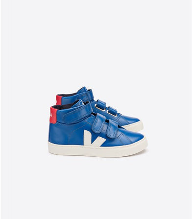 VEJA Junior Mid Esplar • Small Leather Indigo Pierre Pekin