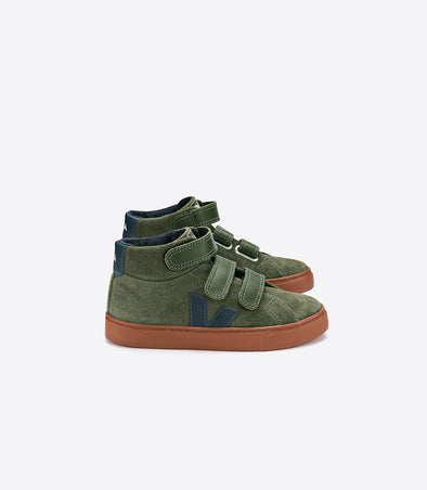VEJA Junior Mid Esplar • Small Suede Olive Nautico Rust Sole