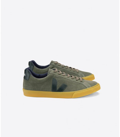 VEJA Esplar • Suede Olive Black Natural Sole