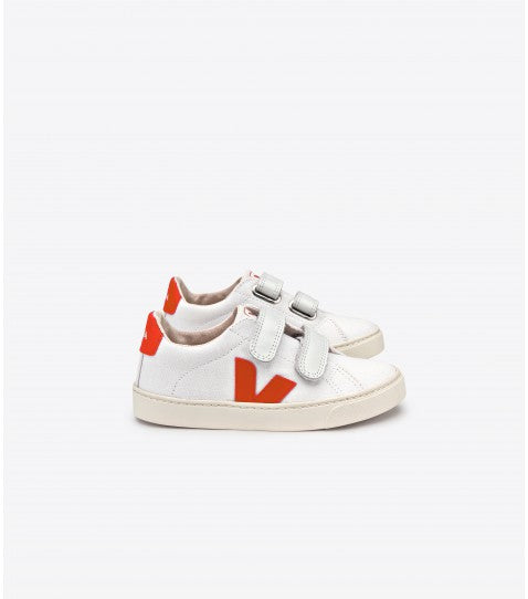harvestclub-harvest-club-leuven-veja-junior-esplar-small-velcro-canvas-white-orange-fluo