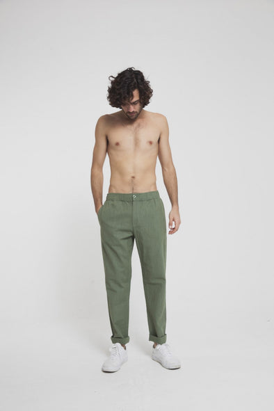 THINKING MU Travel Pant • Green