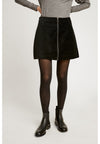 PEOPLE TREE Halima Velvet Skirt • Black