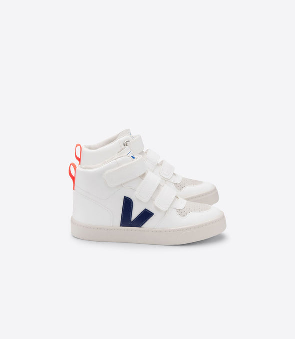VEJA V-10 Kid Mid • CWL White Cobalt Orange Fluo