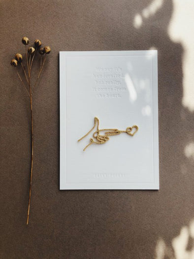 PETIT POURRI • Letterpress card SHOOTING LOVE