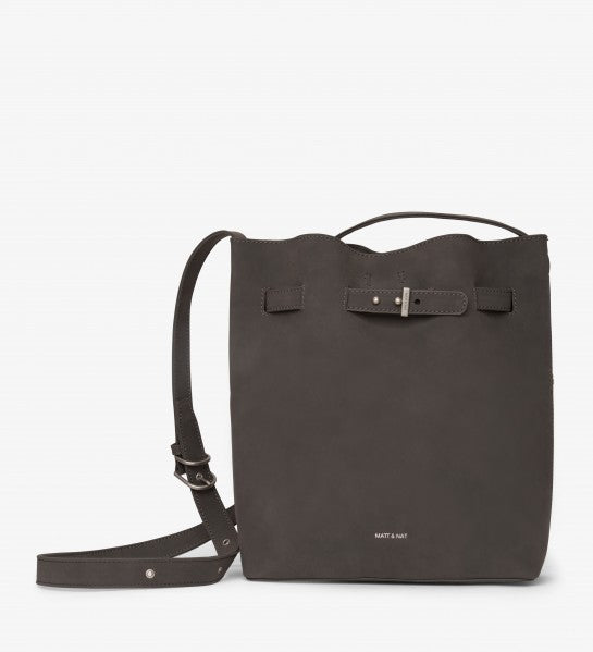 Matt & Nat Lexi Bucketbag • Grey faux suede