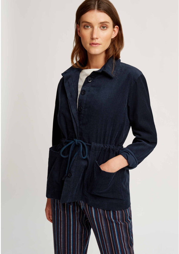 People Tree Hollis Corduroy Jacket • Navy