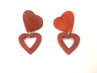 SHICATO earrings • Red Hearts