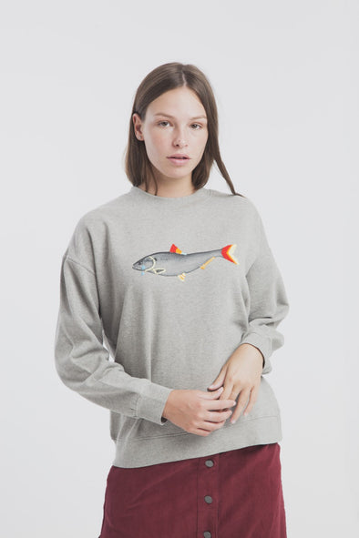 THINKING MU Sad Fish Sweatshirt •