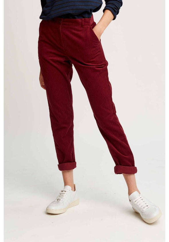 People Tree Kana Corduroy Trousers • Wine