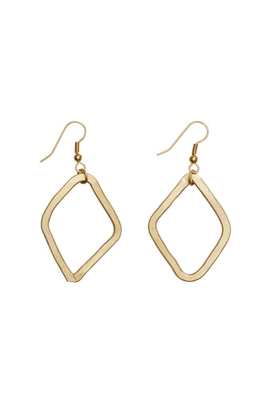 PEOPLE TREE Large diamond earrings • Brass 472