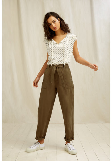 PEOPLE TREE Larisa Trousers • Khaki