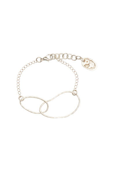 People Tree Linked Ellipse Bracelet • Silver