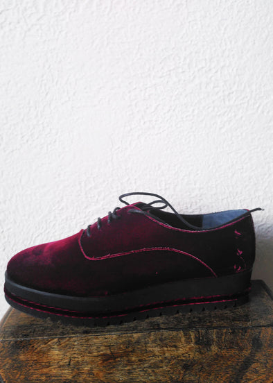 LOLO THE BALLERINA Derby Veluto Bordeaux