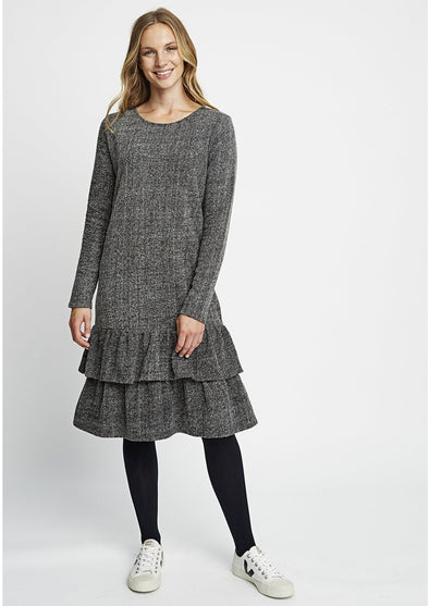 PEOPLE TREE Lona Fleece Dress • Grey