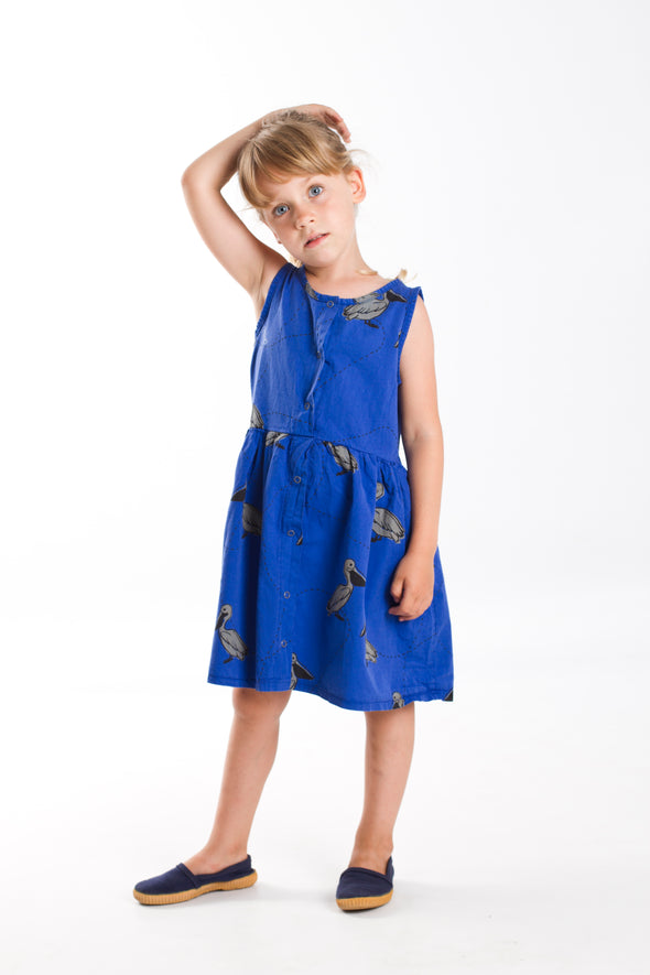 harvestclub-harvest-club-leuven-lötiekids-twill-dress-pelicans-deep-blue