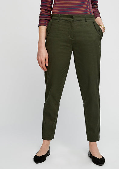 PEOPLE TREE  Marietta Slim Trousers • Khaki