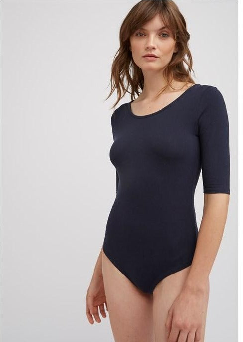 PEOPLE TREE Nicole Bodysuit • Navy