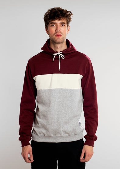harvestclub-harvestc-club-leuven-dedicated-hoodie-falun-mono-stripe-burgundy
