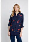 PEOPLE TREE  Odina Embroidered Shirt • Navy