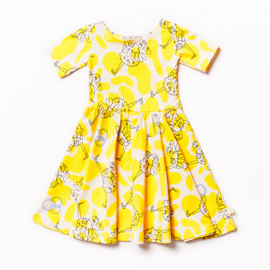NOE & ZOË Ballerina Dress • Yellow Ostrich